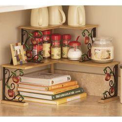 Apple Scrollwork Double Corner Shelves