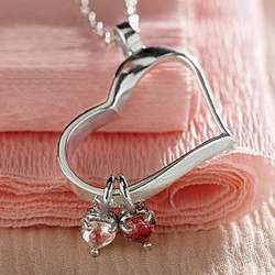 Heart Shaped Birthstone Necklace