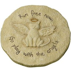 Go Play with the Angels Cat Remembrance Stepping Stone