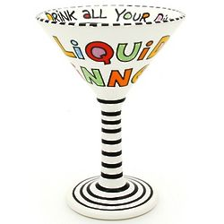 Liquid Dinner Ceramic Martini Goblet