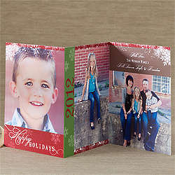 Personalized Three Panel Photo Holiday Cards
