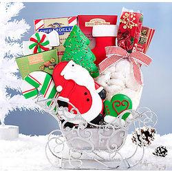 Santa's Sleigh Cookie Gift Basket