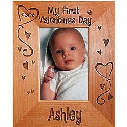 Personalized My First Valentine's Day Frame