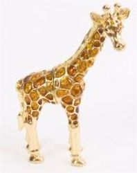 Giraffe Trinket Box with Amber Crystals