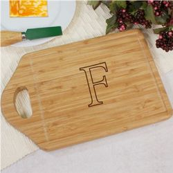 Monogrammed Bamboo Wood Cheese Carving Board