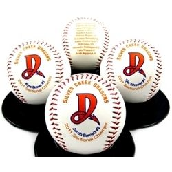 Personalized Roster Two Sided Baseball