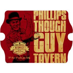 Tough Guy Personalized Vintage Curved Edges Tavern Sign