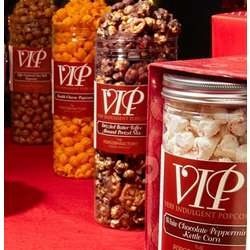 Tall VIP Very Indulgent Popcorn Clear Canister