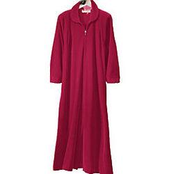 Women's Velvety Velour Embroidered Robe