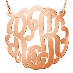 Rose Gold Vermeil Personalized Monogram Necklace