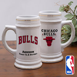 Personalized NBA Logo Beer Stein