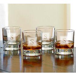 Bryne Block Monogram Whiskey Glasses