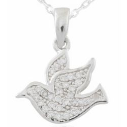 Sterling Silver Confirmation Dove Necklace