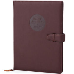 Wine Maker's Journal in Faux Leather and Recycled Paper