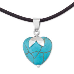 Heart Fruit Sterling Silver Pendant
