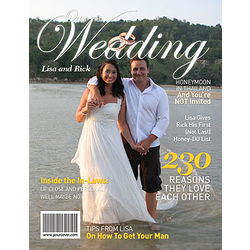 Personalized Wedding Magazine Cover