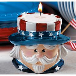 Uncle Sam Candleholder
