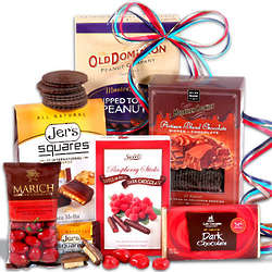 Sweet Decadence Chocolate Gift Basket Stack