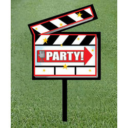 Hollywood 'Party' Yard Sign