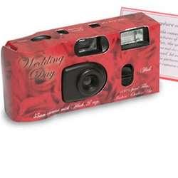 Red Bouquet Wedding Camera
