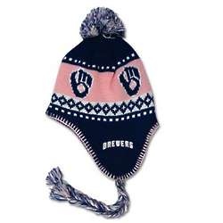 Brewers Women's Braided Knit Hat