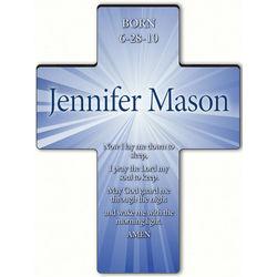 Personalized Starburst Cross with Children's Bedtime Prayer