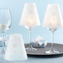 Snowflake Candle Shades