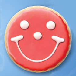 Red State Smiley Face Cookies