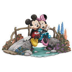A Bridge To Our Love Mickey and Minnie Mouse Figurine