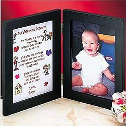 Personalized Mommy Valentine Print Frame from 1 Child