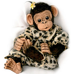 Little Ubu Lifelike Baby Chimpanzee Doll