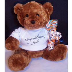 Personalized Congratulations Teddy Bear