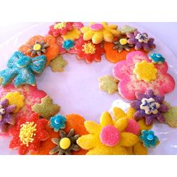 Floral Sugar Cookie Wreath