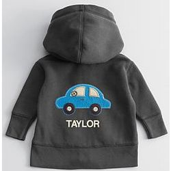Baby Hoodie with Blue Car Design