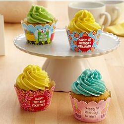 Kid's Personalized Birthday Cupcake Wrapper