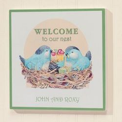 Personalized Family Nest Wall Plaque