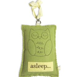 Green Owl Baby Sleep Sign