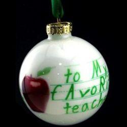 Personalized Favorite Teacher Ornament