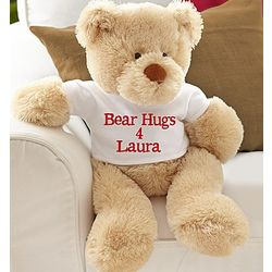 Personalized Message Teddy Bear