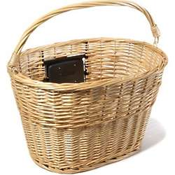 Quick-Release Wicker Bike Basket