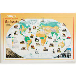 Animals Personalized Canvas World Map