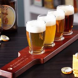 Clarkson Personalized Beer Flight Set