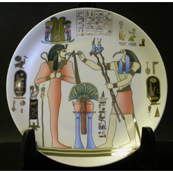 Nefertari and Thoth Decorative Plate