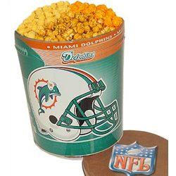 Miami Dolphins 3 Way Popcorn Tin
