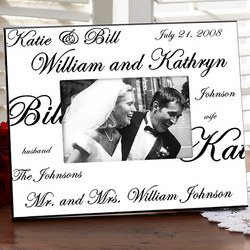 Mr. and Mrs. Personalized Photo Frame