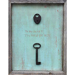To My Heart You Hold The Key Wall Art