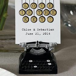 Love Keys VintageTypewriter Place Card Holder