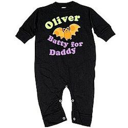 Personalized Batty For Fleece Romper