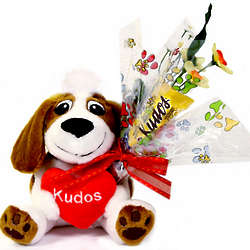 Kudos Plush Dog With Kudos Bar