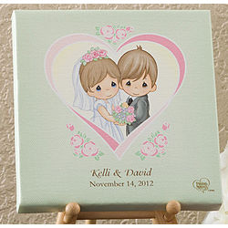 Personalized Precious Moments Wedding Heart Canvas Art